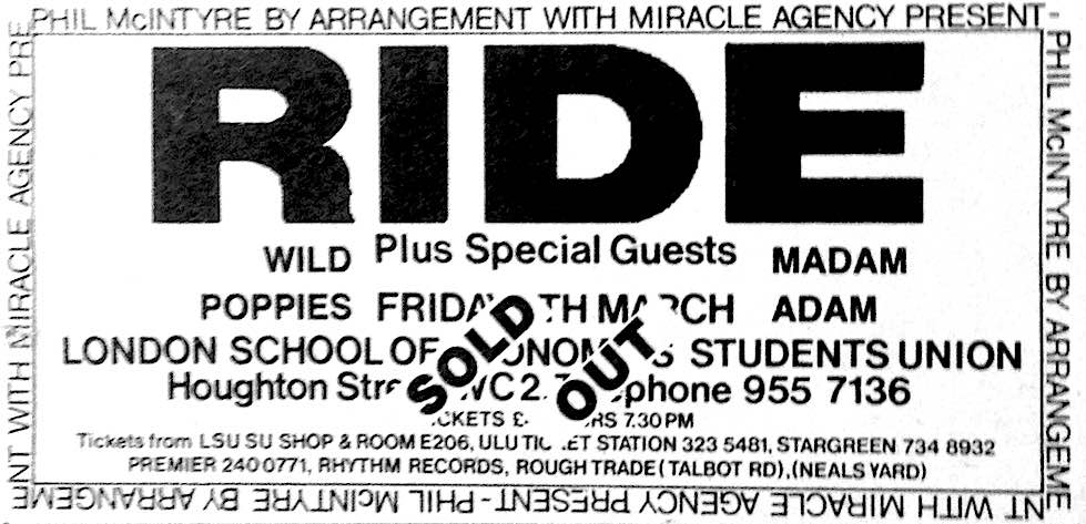 RIDE - LSE March 1990