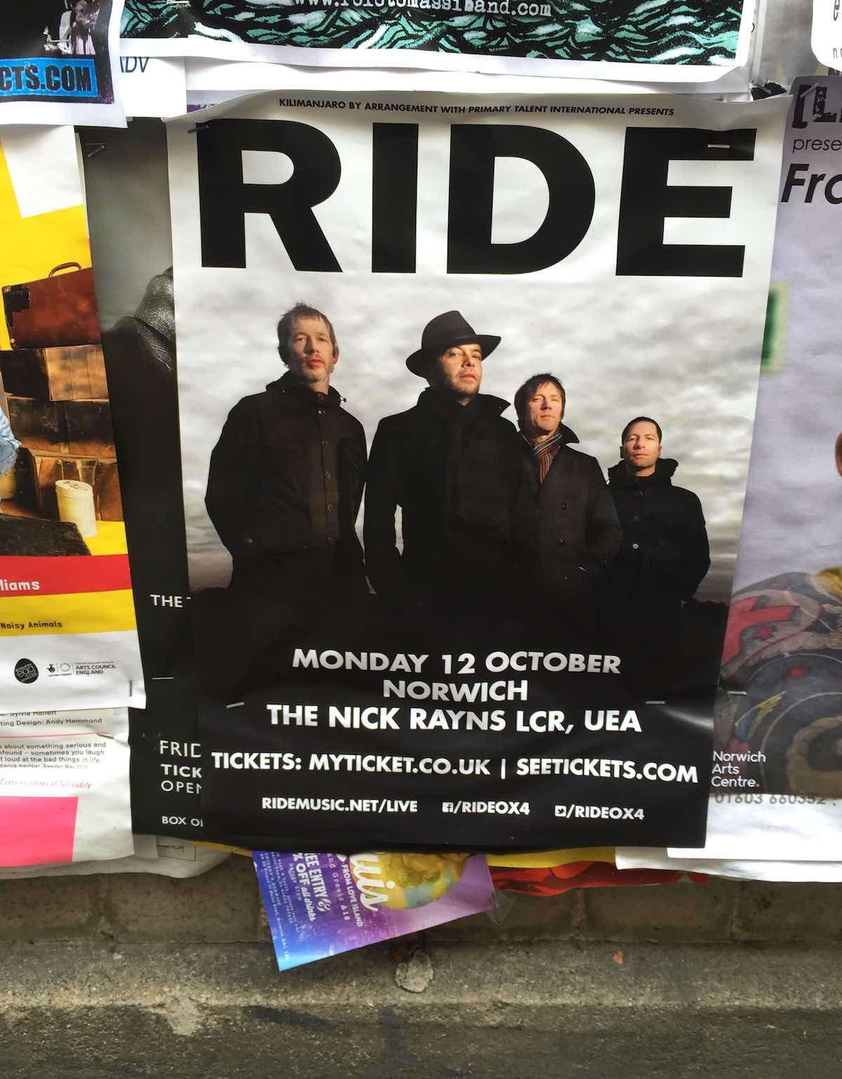 Ride - Norwich poster