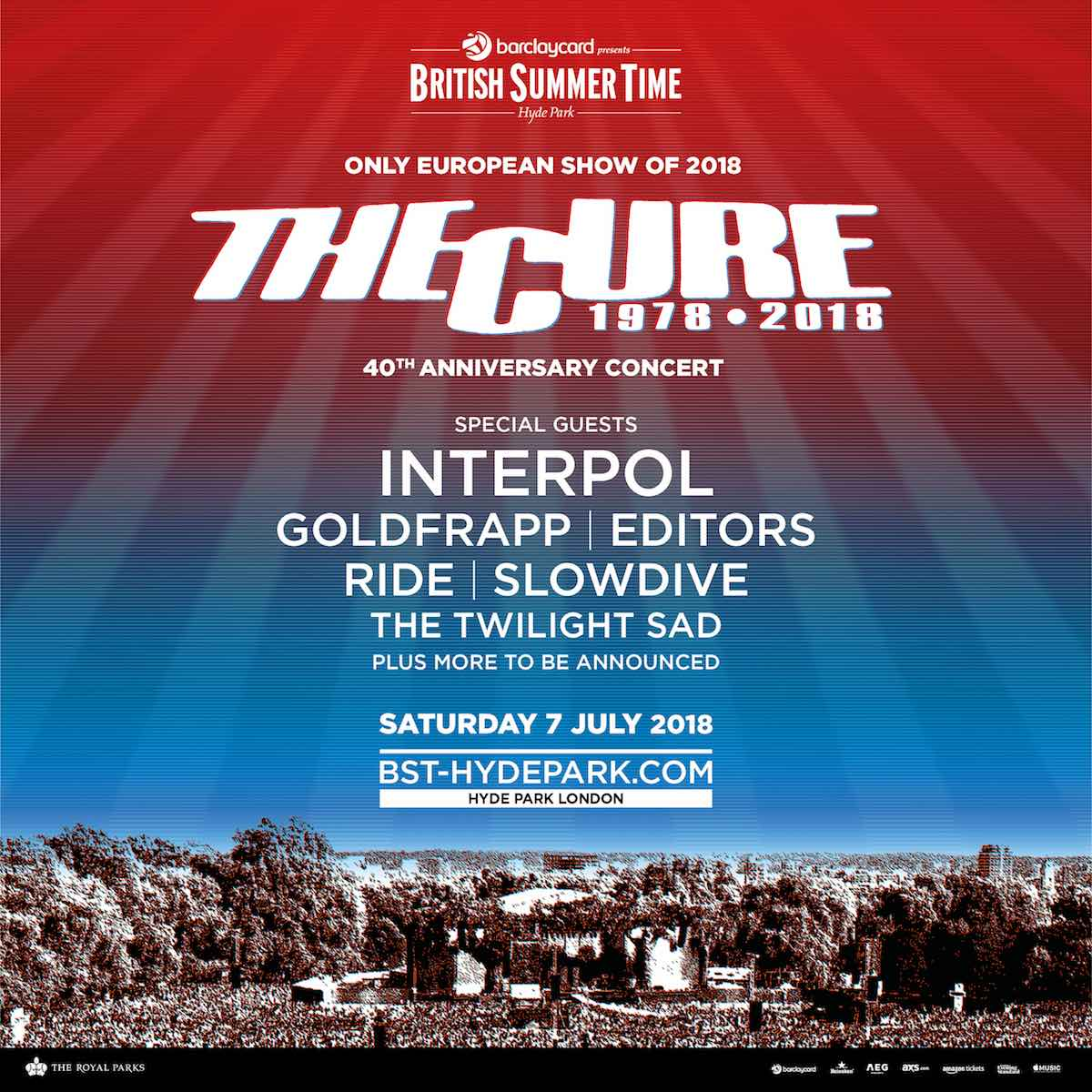 The Cure British Summer Time poster
