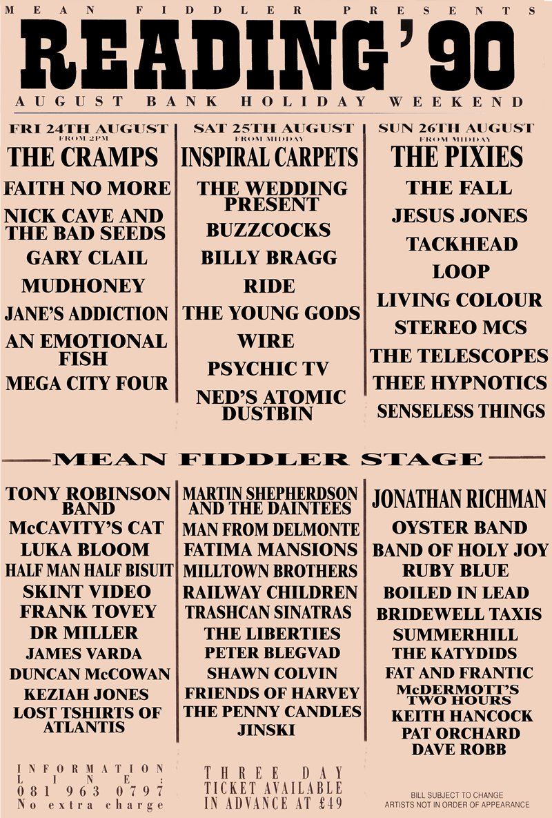 Line-up poster
