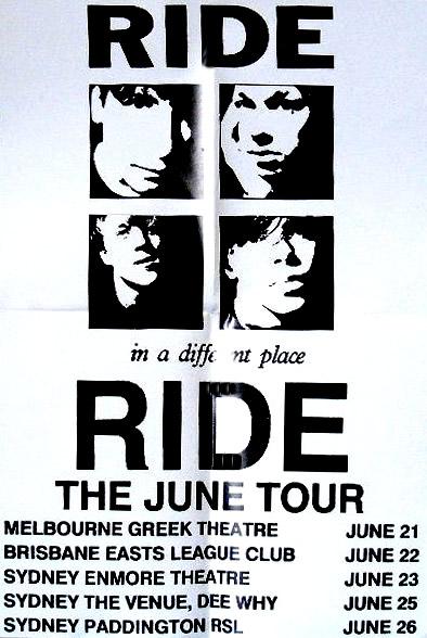 Australian tour poster