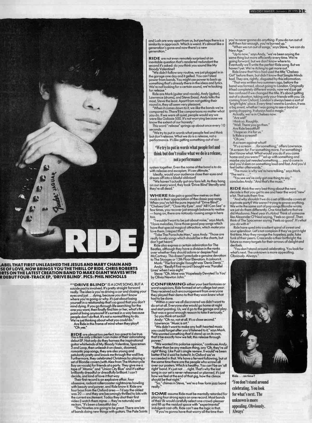 Melody Maker Interview Jan 20th 1990
