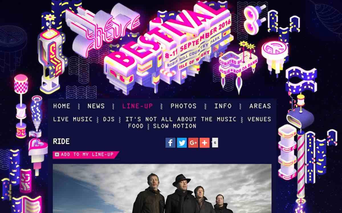 Bestival website screenshot