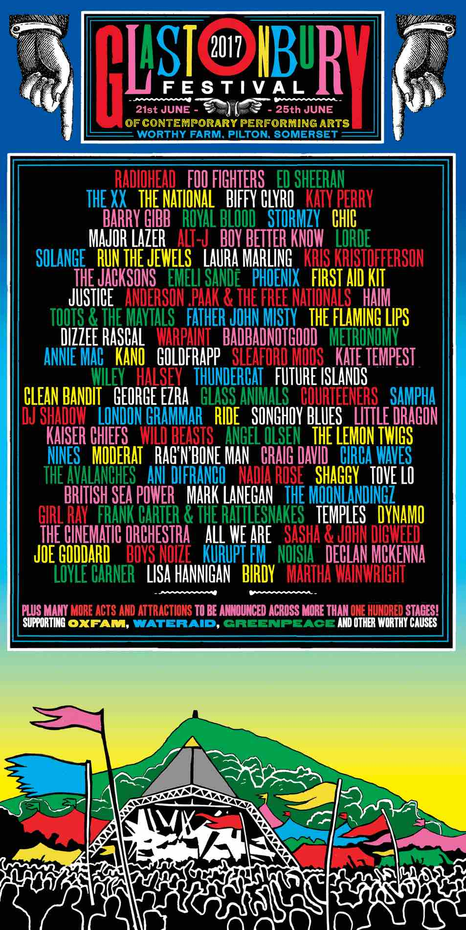 Glastonbury 2017 line-up poster