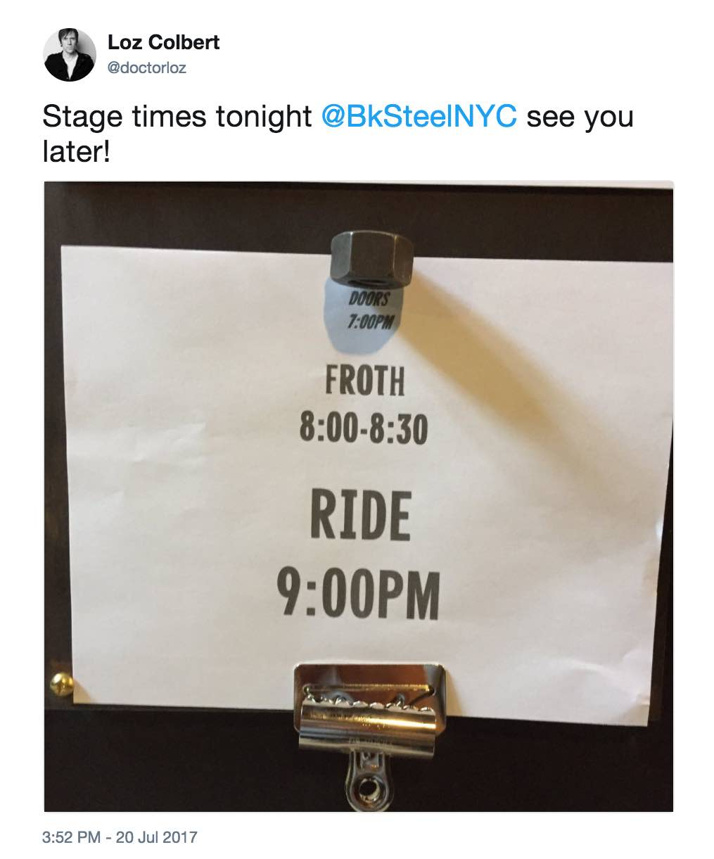 Stage times