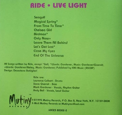 Live Light back cover